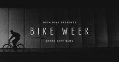Black and White Bike Week Social Post Bike
