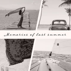 Black & White Memories Of Last Summer Instagram Square Vacation