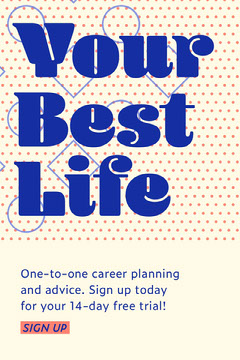 your best life Pinterest  Career Poster