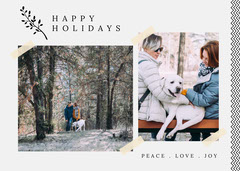 Peace Love and Joy Holiday Card Family