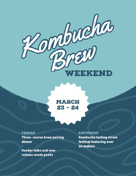 Kombucha Brew Folleto de invitación a evento