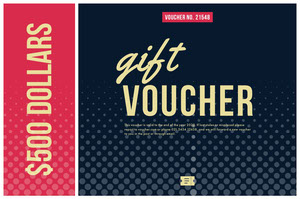 Black Red and Yellow Gift Voucher Report Card