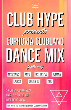 DANCE MIX Night Club Flyer