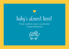 Yellow and Blue Illustrated Pregnancy Congratulations Card Baby's First Year