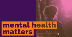 Violet and Orange Mental Health Matters Banner Awareness