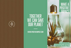 Brown and Gree, Make a Positive Impact, Brochure Cactus