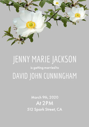 JENNY MARIE JACKSON Wedding Invitation