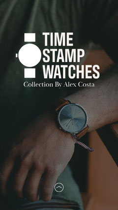Dark Grey Timestamp Watches IG Story New Collection