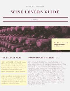 Wine Enthusiast Newsletter Purple