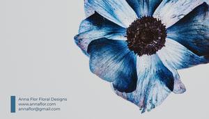 Anna Flor Floral Designs<BR>www.annaflor.com<BR>annaflor@gmail.com Carte de visite