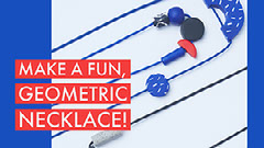 Blue and Red Necklace DIY Facebook Banner Jewelry