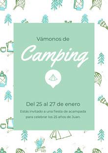 Camping Invitación