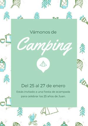 Camping Invitación de fiesta