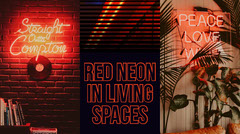 Red Neon Interior Design Blog Post Graphic Interior Design