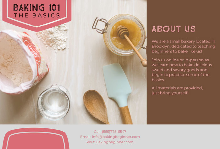 Baking Basics Brochure Idées de brochures