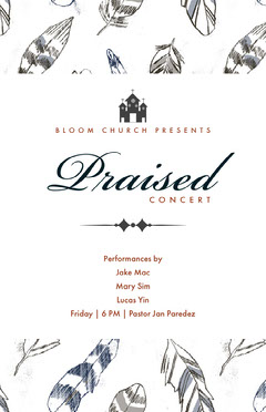 White and Black Praised Concert Flyer Meeting Flyer