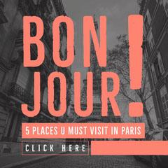 Red, Black and White, Travel Paris, Instagram Post City