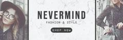Fashion Model Photos Clothing Store Horizontal Ad Banner Fashion