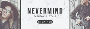 Fashion Model Photos Clothing Store Horizontal Ad Banner Banner de anuncios