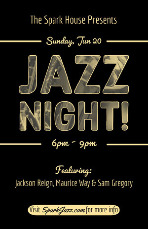 JAZZ<BR>NIGHT! Concert Poster