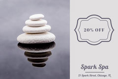 White and Blue Spark Spa Gift Card Spa