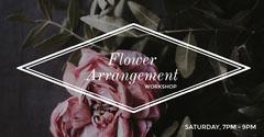 Dark Toned Flower Workshop Event Facebook Banner Event Banner