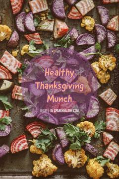 Purple Thanksgiving Recipe Pinterest Graphic Thanksgiving