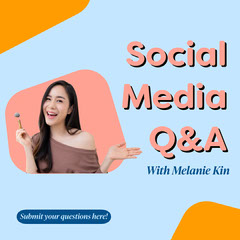 Blue & Pink Social Media Q&A Promo Instagram Square Social Media Flyer