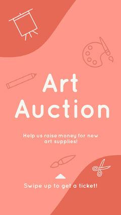 Art Auction Instagram Story  Art