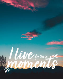 Live for these moments IG Portrait Sky