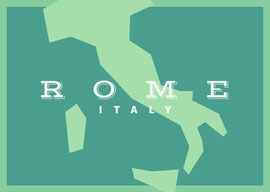 Rome Postcard Cartolina