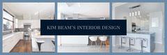 Blue and White Interior Design Banner Architecture