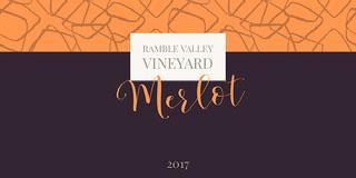 Merlot Rótulo de vinho