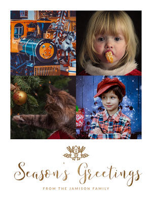 Funny Collage Family Christmas Card Christmas Card