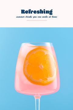 Blue White Pink Refreshing Summer Drinks Orange Glass Pinterest Drink Menu