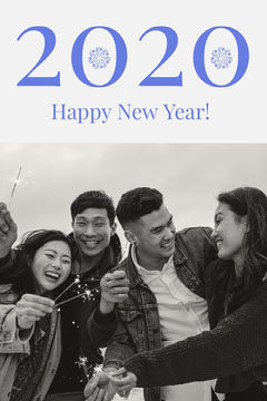 2020 Happy New Year Card New Year