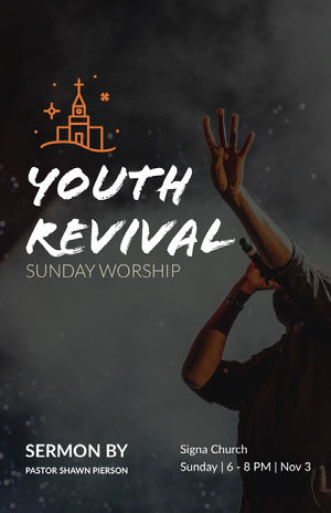 Youth Revival Church Flyer