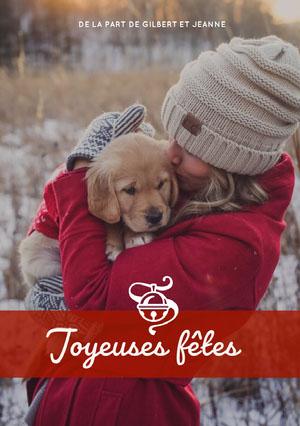 Joyeuses fêtes Carte de Noël