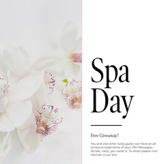 White, Light Toned Spa Day Ad Instagram Post Spa