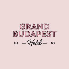 Pink and Gray Hotel Logo Hotels