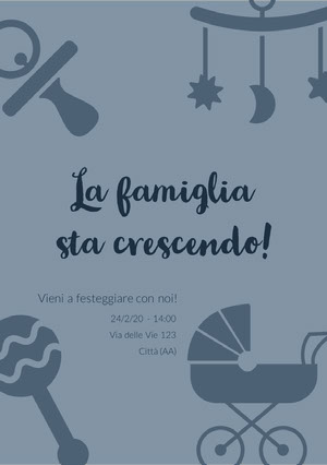 the family is growing baby shower invitations  Invito per baby shower