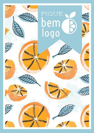 orange patterned get well soon cards  Cartão de melhoras