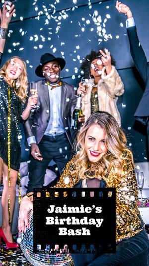 Black Film Birthday Snapchat Filter Birthday Filter for Snapchat