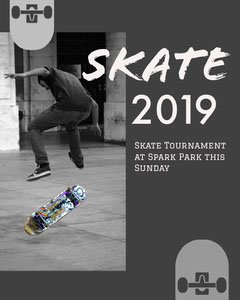 White and Grey Skate Tournament Social Post Sunday
