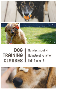 Dog Training Classes Ad Flyer with Collage Dog Flyer
