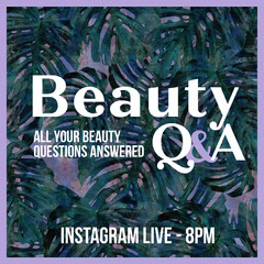 Purple Beauty Q&A Instagram Square Makeup