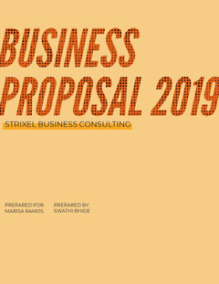 Orange and Yellow Business Proposal Yellow