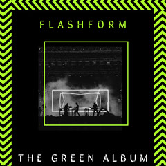 Black and Neon Green Chevron Album Cover Art Band