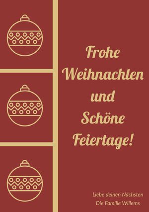 Frohe Weihnachten und Schöne Feiertage! Weihnachtskarte