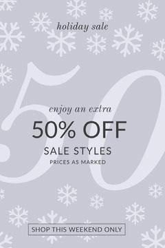 Light Purple Holiday Store Sale Pinterest Ad Holiday Sale
